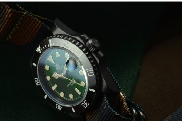 On Sale!!! San Martin Diving Watch Automatic Watch with plated case SN017-G-DLC