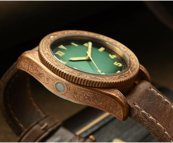 Bronze Watch San Martin Bronze Diving Watch Men's Carved Watch SN061-T
