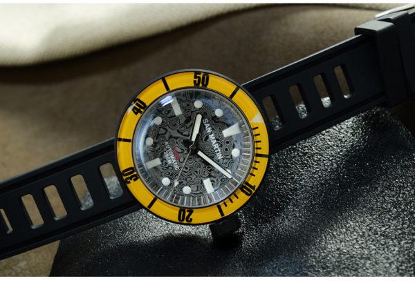 Damascus Watch San Martin limited Edition Damascus watch DLC Black SN001