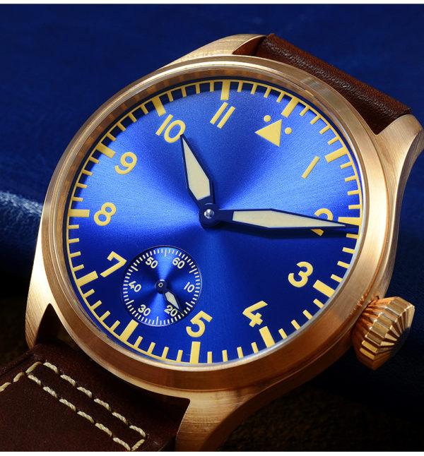 Bronze Watch San Martin bronze luminous dive watch pilot SN037