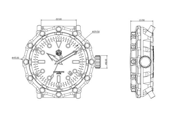 On Sale!!! SAN MARTIN self-designed limited edition mechanical diving custom watch SN0025