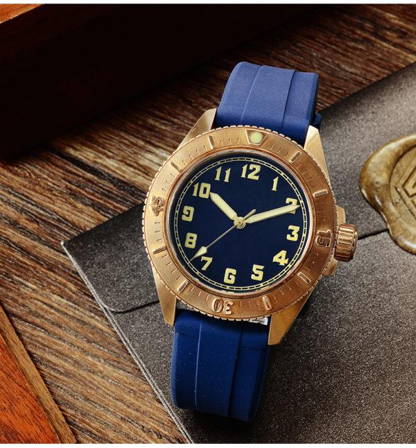 Bronze Watch San Martin diving watch simple watch male bronze watch SN040-Q