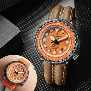 On Sale!!! San Martin automatic mechanical men's watch diving watch SN003G-CG