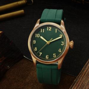 Bronze Watch San Martin pilot retro military watch luminous bronze watch waterproof men's watch SN043-Q
