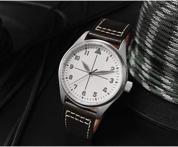 On Sale!!! San Martin Vintage Pilot Watch Waterproof Luminous Mechanical Watch SN030-GW