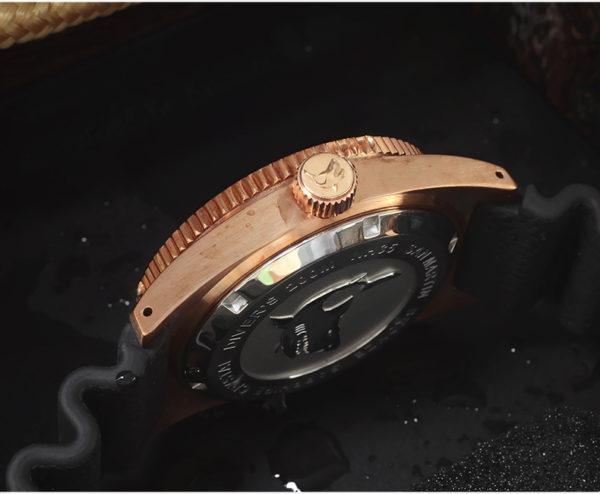 Bronze Watch San Martin Bronze Luminous Diving Watch Sapphire Crystal SN007-Q