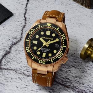 Bronze Watch San Martin bronze diving watch mechanical watch luminous 300 meters waterproof SN038-Q