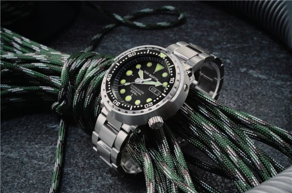 On Sale!!! San Martin diving watch automatic mechanical stainless steel case watch male luminous SN003-G