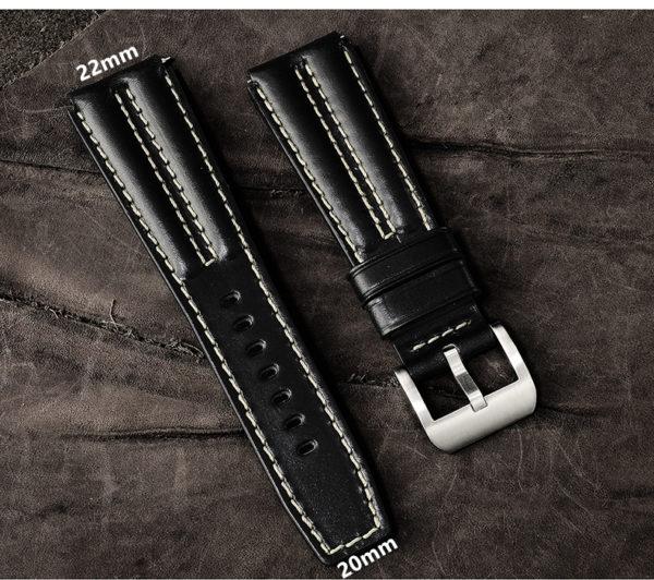Accessories Handmade TUNA leather strap 22mm pin buckle LS-02