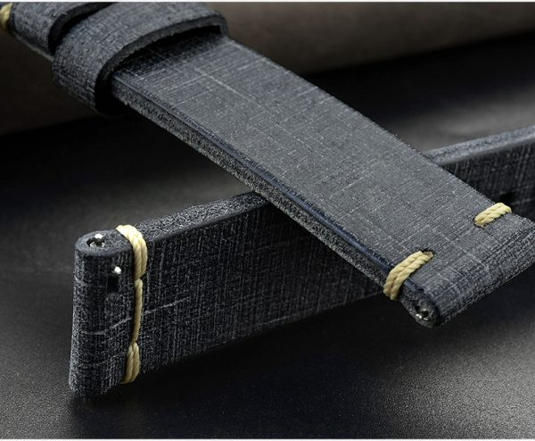 Accessories Textured cloth pattern cowhide strap 20mm pin buckle LS-03
