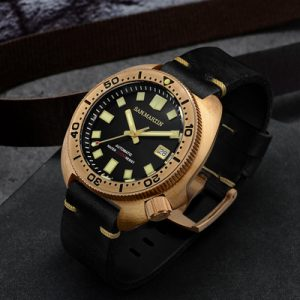 Bronze Watch SAN MARTIN watch bronze diving watch mechanical watch SN047-Q