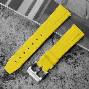 Accessories San Martin Imported rubber diving strap 20mm waterproof watch strap F001