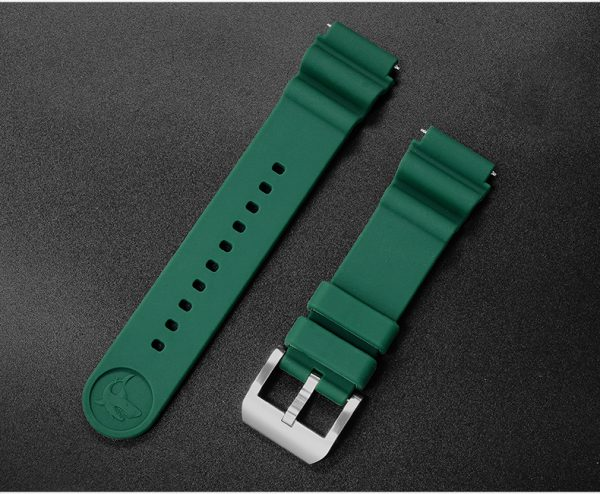 Accessories San Martin silicone rubber diving strap 20/22mm waterproof watch strap S001