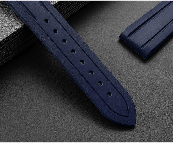 Accessories San Martin Imported Fluorine rubber diving strap 20mm/22mm waterproof watch strap F004