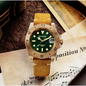 New Arrivals San Martin Diving Watch Automatic Watch Bronze watch with mechanical movement SN017-Q-35