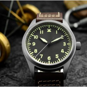 On Sale!!! San Martin Titanium Pilot Watch Luminous Military Watch SN030-T