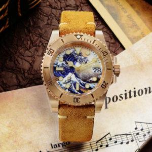 Bronze Watch San Martin Diving Watch Automatic Watch Bronze watch with mechanical movement SN017-Q-35