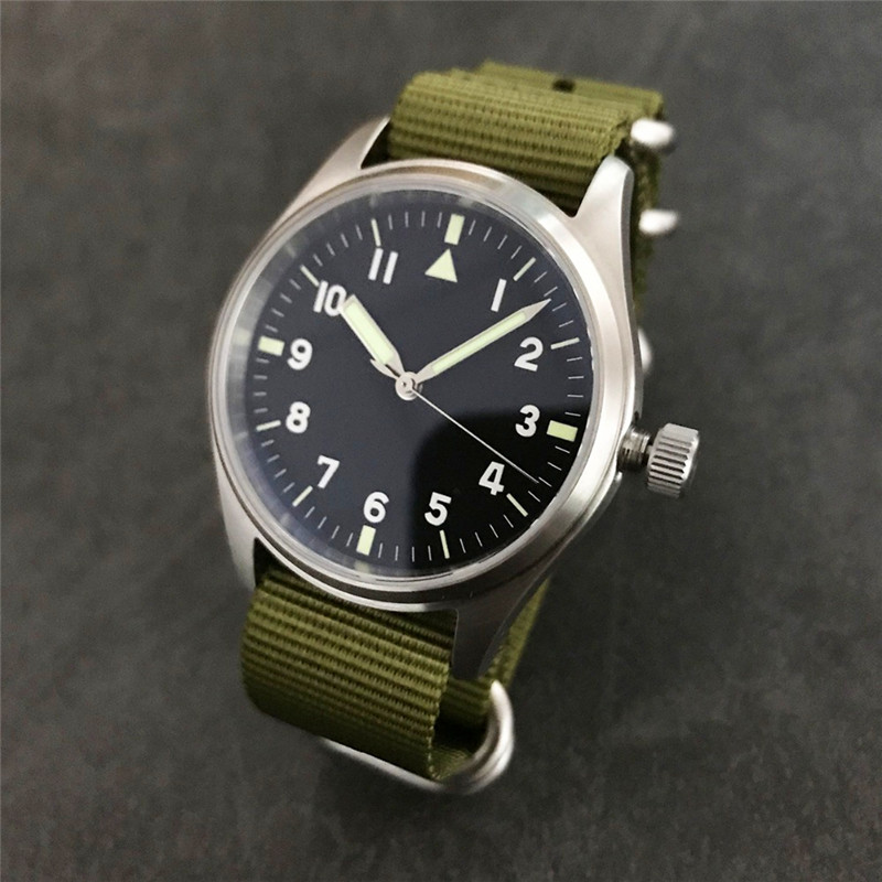 On Sale!!! San Martin stainless steel Pilot Watch Luminous Military Watch SN030-G