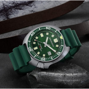On Sale!!! SAN MARTIN WATCH STAINLESS STEEL 6105 DIVING WATCH MECHANICAL WATCH SN047-G-R