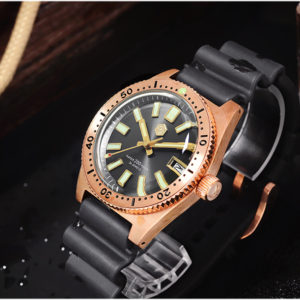 Bronze Watch San Martin Bronze Luminous Diving Watch Sapphire Crystal SN007-Q