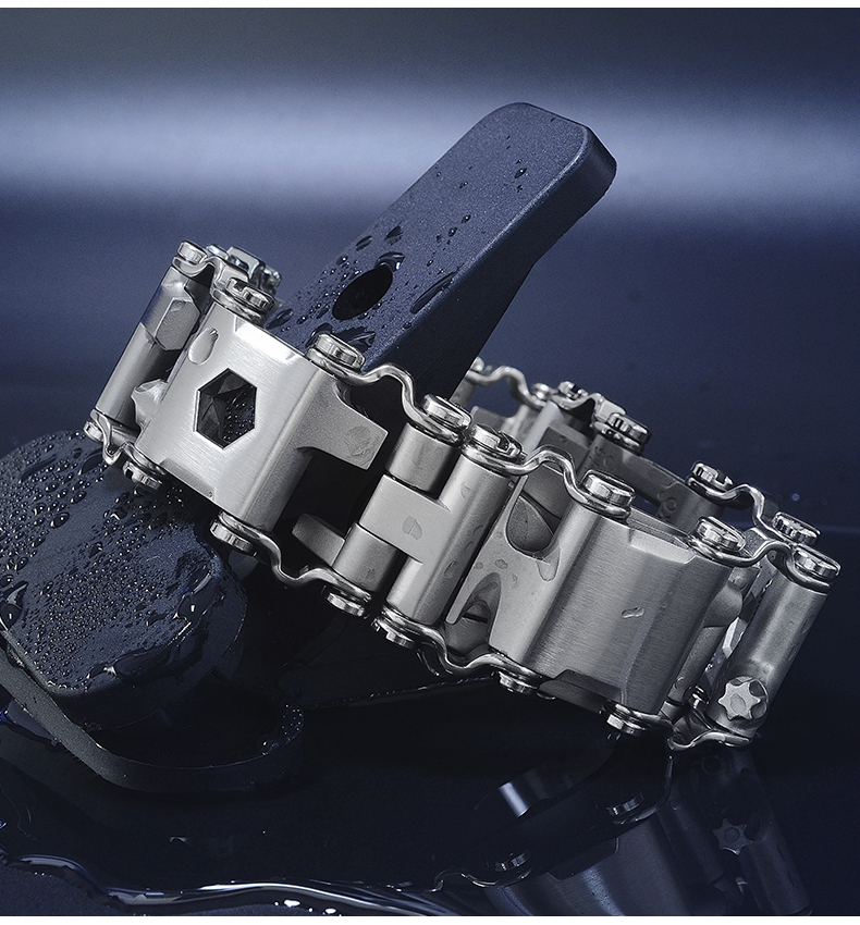 Accessories San Martin stainless steel tool bracelet 22mm wide for SN0025 limited edition titanium diving watch