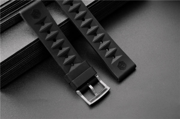 Accessories SAN MARTIN waterproof rubber strap 20mm wide for SN007-G&SN047-G