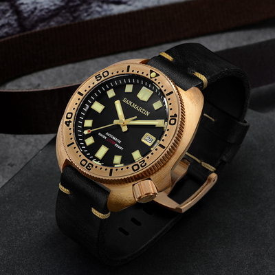 Bronze Watch SAN MARTIN watch bronze diving watch mechanical watch SN047-Q