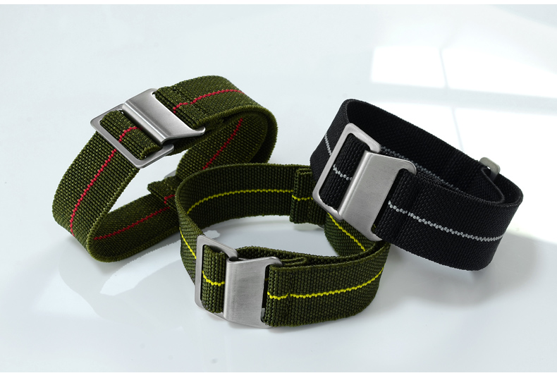 Accessories San Martin Parachute nylon strap 20/22mm pilot watch strap N001