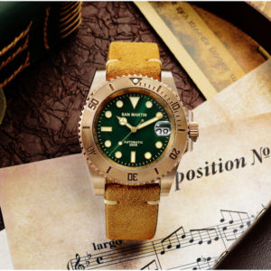Bronze Watch San Martin Diving Watch Automatic Watch Bronze watch with mechanical movement SN017-Q-35