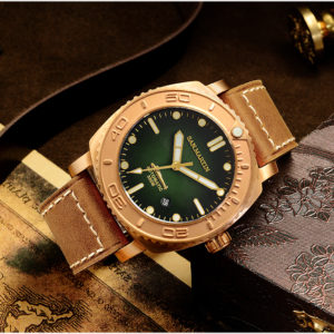 Bronze Watch San Martin Bronze Luminous Diving mechanical Watch SN078-Q