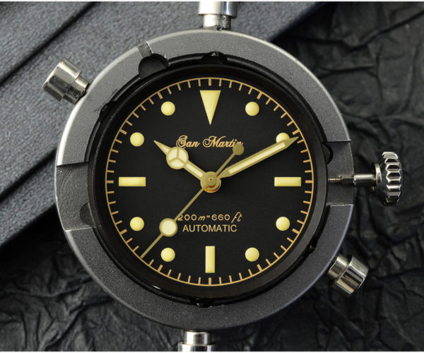 New Arrivals SAN MARTIN mechanical diving watch 200 meters waterproof SN004G