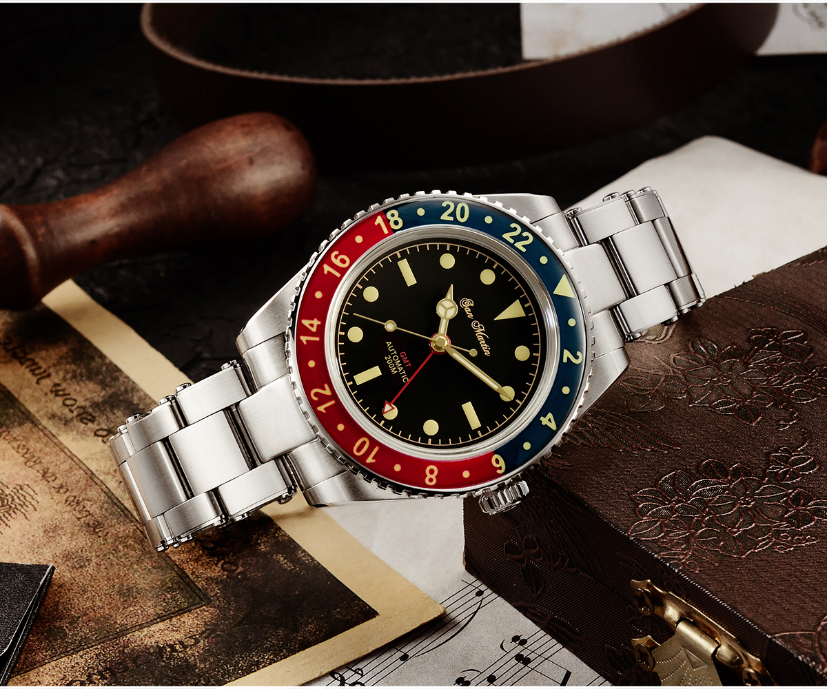 New Arrivals San Martin Diving Watch GMT Watch SN005-G