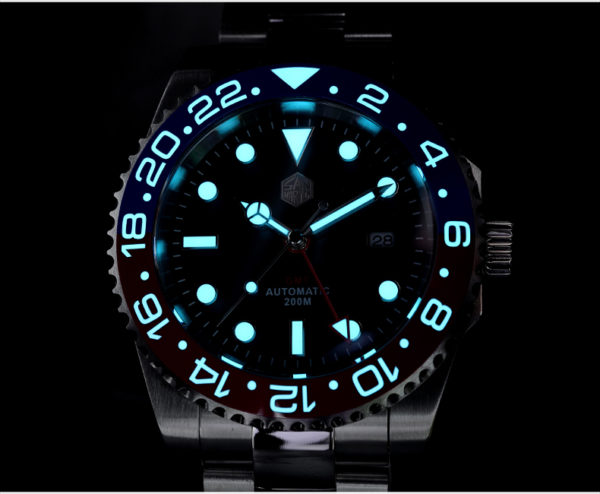 New Arrivals San Martin Diving Watch GMT Watch SN016-G