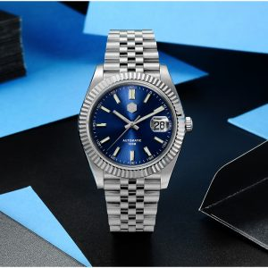 New Arrivals SAN MARTIN 100m waterproof new dress watch mechanical watch SN0058-G