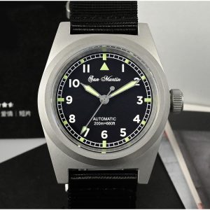 New Arrivals SAN MARTIN mechanical military diving watch 200 meters waterproof SN029-G-V2